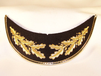 Army Style Visor with Gold Mylar